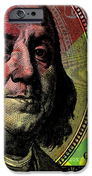 Benjamin Franklin - $100 Bill IPhone Case by Jean luc Comperat