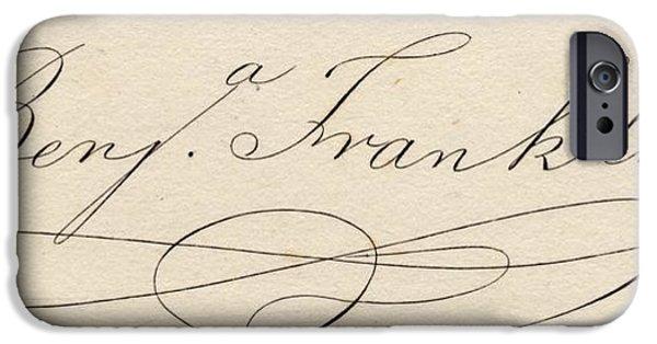 Benjamin Franklin, 1706-1790 IPhone Case by Vintage Design Pics