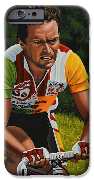 Bernard Hinault IPhone Case by Paul Meijering