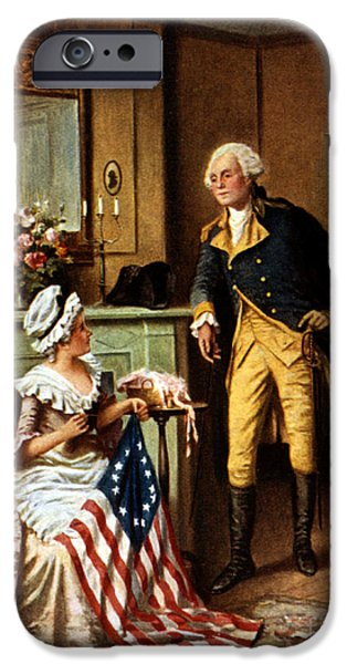 Betsy Ross And George Washington IPhone Case by Science Source