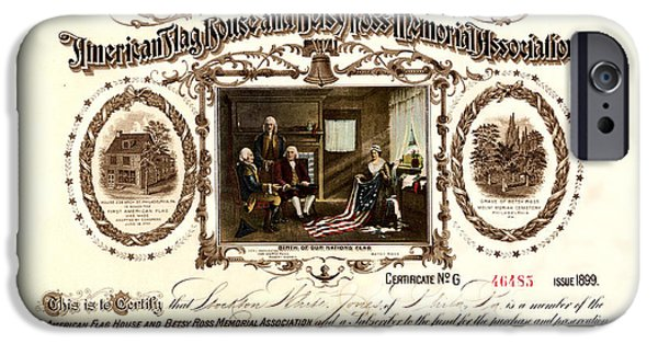 Betsy Ross IPhone Case by Andrew Fare