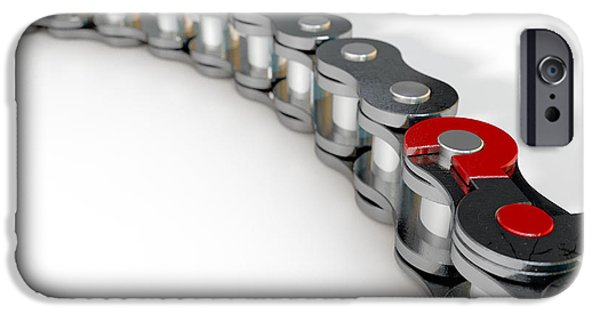 Bicycle Chain Missing Link IPhone Case by Allan Swart