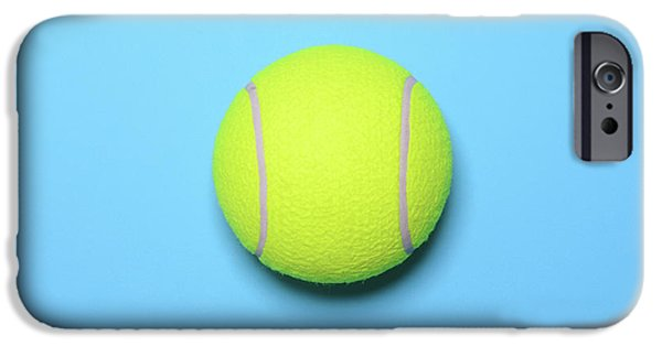 Big Tennis Ball On Blue Background - Trendy Minimal Design Top V IPhone 6s Case by Aleksandar Mijatovic