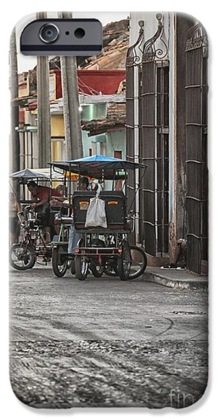 Bike Taxis In Trinidad IPhone Case by Patricia Hofmeester