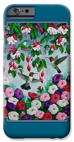 Bird Painting - Hummingbird Heaven IPhone 6s Case by Crista Forest