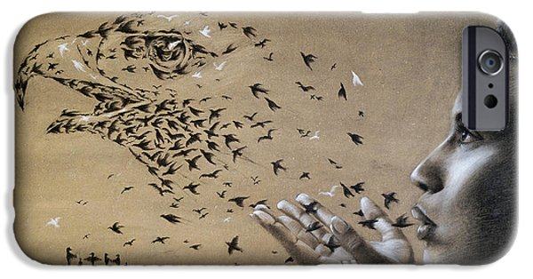 Birds Of Poetry  IPhone Case by Fithi Abraham
