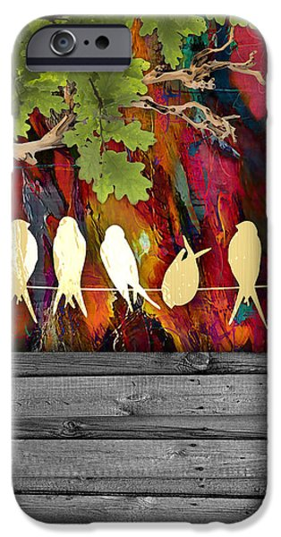 Birds On A Wire Collection IPhone Case by Marvin Blaine