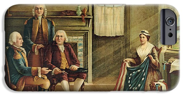 Birth Of Our Nation's Flag IPhone Case by G H Weisgerber