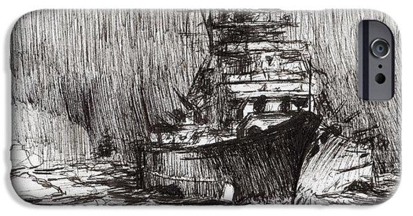 Bismarck Off Greenland IPhone Case by Vincent Alexander Booth