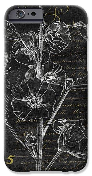 Black And Gold Hummingbirds 1 IPhone Case by Debbie DeWitt