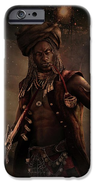 Black Caesar Pirate IPhone Case by Shanina Conway