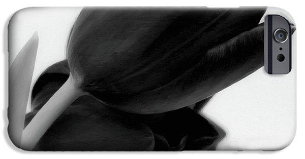 Black Tulips IPhone Case by Wim Lanclus