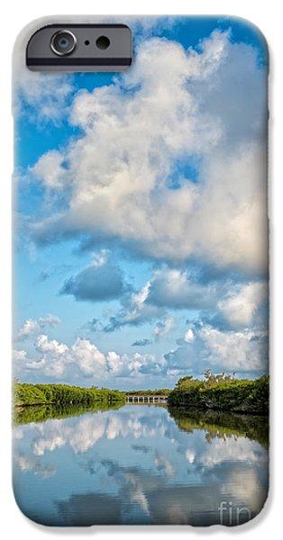 Blind Pass Bowman Beach Sanibel Florida IPhone Case by Edward Fielding