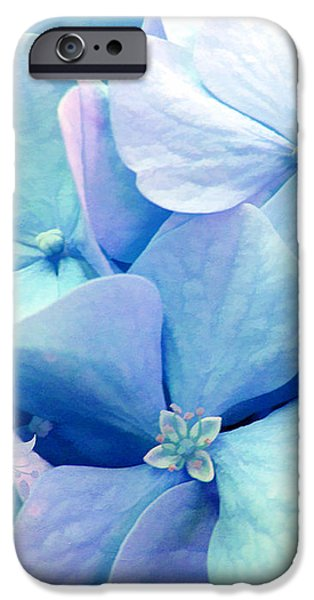 Bliss, Lavender Baby Blue Periwinkle Hydrangeas Dreamy Colors IPhone Case by Tina Lavoie