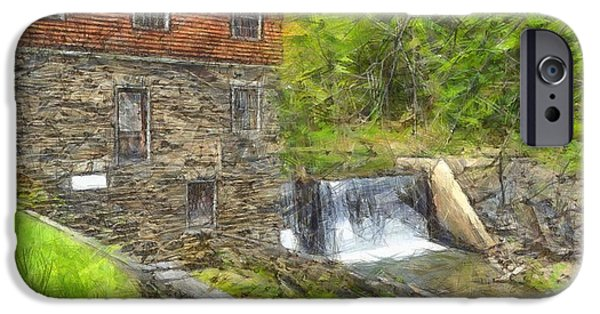 Blow Me Down Mill Cornish New Hampshire Pencil IPhone Case by Edward Fielding