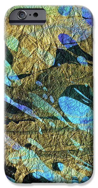 Blue Abstract Art - Deeper Visions 2 - Sharon Cummings IPhone Case by Sharon Cummings