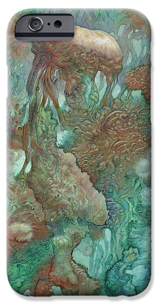 Blue Alternator, Primordial Abstraction 2 IPhone Case by Ethan Harris