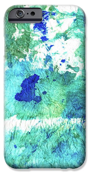 Blue And Green Abstract - Imagine - Sharon Cummings IPhone Case by Sharon Cummings