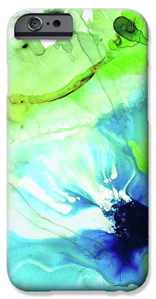 Blue And Green Abstract - Land And Sea - Sharon Cummings IPhone Case by Sharon Cummings
