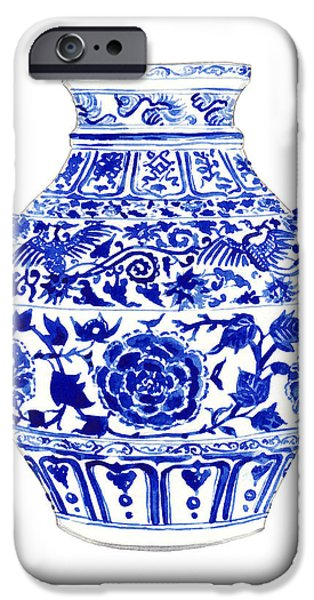 Blue And White Ginger Jar Chinoiserie 4 IPhone 6s Case by Laura Row