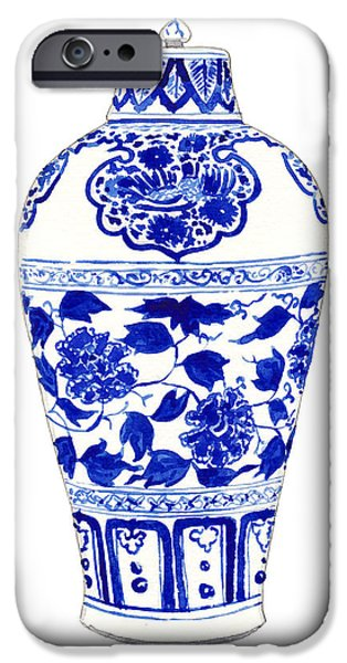 Blue And White Ginger Jar Chinoiserie Jar 1 IPhone 6s Case by Laura Row