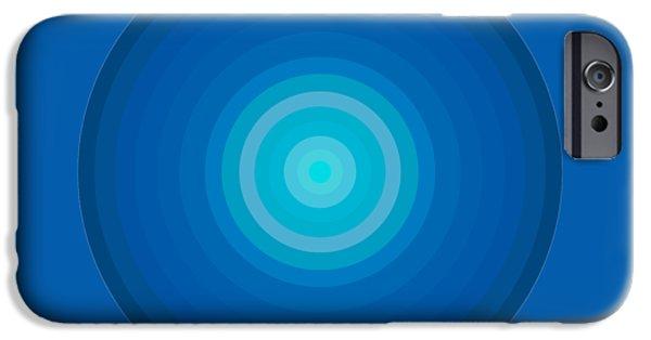 Blue Circles IPhone Case by Frank Tschakert