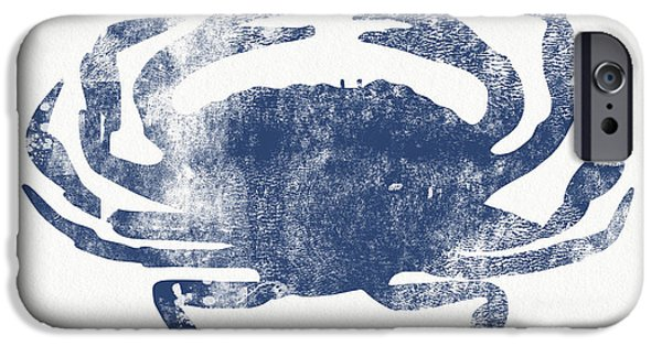 Blue Crab- Art By Linda Woods IPhone Case by Linda Woods