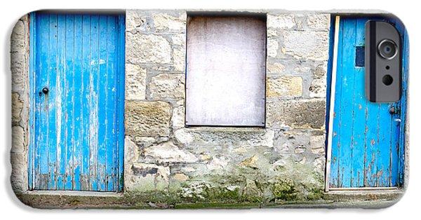 Blue Doors IPhone Case by Tom Gowanlock