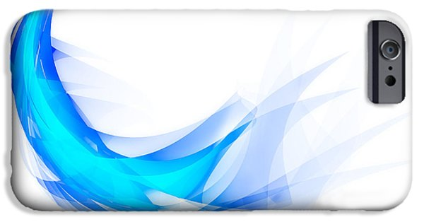 Blue Feather IPhone Case by Setsiri Silapasuwanchai