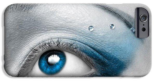 Blue Female Eye Macro With Artistic Make-up IPhone 6s Case by Oleksiy Maksymenko