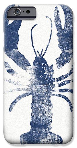 Blue Lobster- Art By Linda Woods IPhone Case by Linda Woods