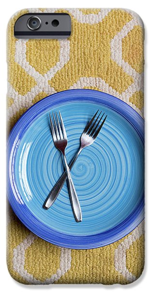 Blue Plate Special IPhone Case by Edward Fielding
