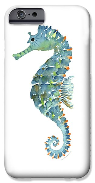 Blue Seahorse IPhone 6s Case by Amy Kirkpatrick