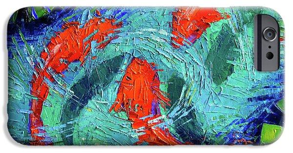 Blue Silence IPhone Case by Mona Edulesco