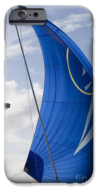 Blue Spinnaker Sy Alexandria IPhone Case by Dustin K Ryan