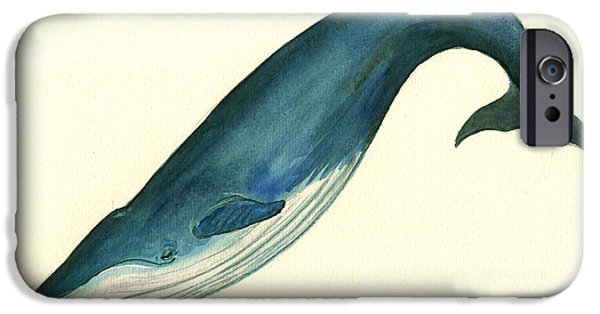 Blue Whale Painting IPhone 6s Case by Juan  Bosco