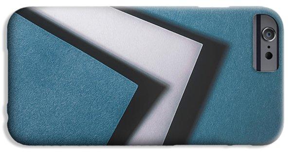 Blue White Blue IPhone Case by Scott Norris