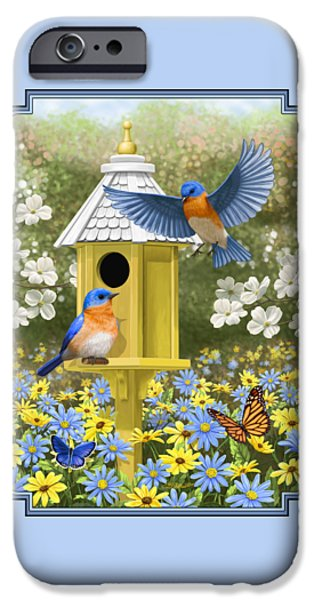 Bluebird Garden Home IPhone 6s Case by Crista Forest