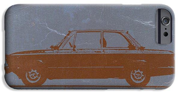 Bmw 2002 Orange IPhone Case by Naxart Studio