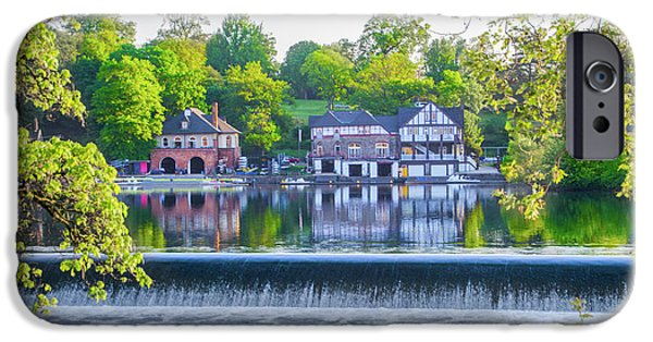 Boathouse Row - Framed In Spring IPhone Case by Bill Cannon