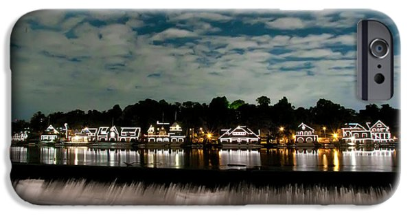 Boathouse Row - Nights Reflection IPhone Case by Bill Cannon