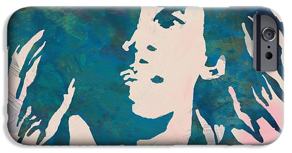 Bob Marley Stylised Pop Art Poser IPhone Case by Kim Wang