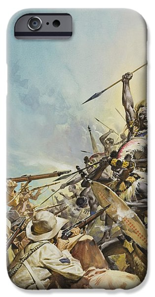 Boers Fighting Natives IPhone Case by James Edwin McConnell