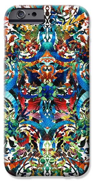 Bold Pattern Art - Color Fusion Design 8 By Sharon Cummings IPhone Case by Sharon Cummings