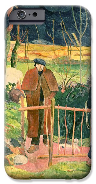 Bonjour Monsieur Gauguin IPhone Case by Paul Gauguin