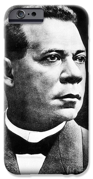 Booker T. Washington, African-american IPhone Case by Photo Researchers