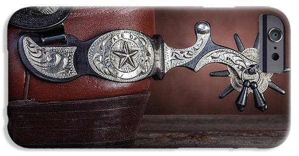 Boot Heel With Texas Spur IPhone Case by Tom Mc Nemar