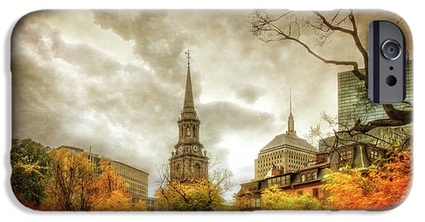 Boston Autumn Splendor IPhone Case by Joann Vitali