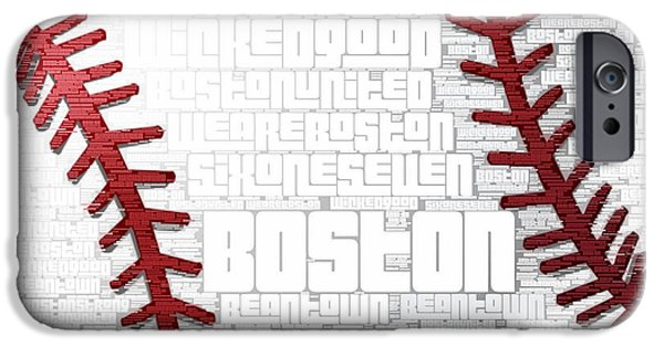 Boston Baseball IPhone Case by Brandi Fitzgerald