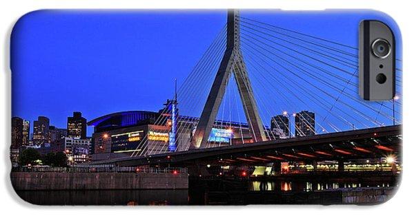 Boston Garden And Zakim Bridge IPhone Case by Rick Berk
